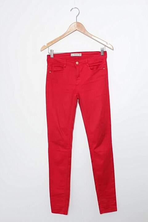 Calça Vermelha Skinny Zara_foto principal