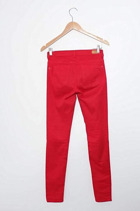Calça Vermelha Skinny Zara_foto de frente