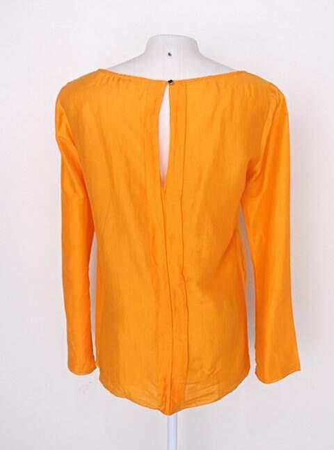 Blusa bobstore feminina laranja_foto de costas