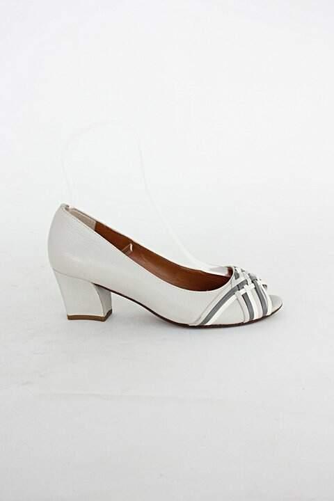 Peep toe de couro corello feminino cinza_foto principal
