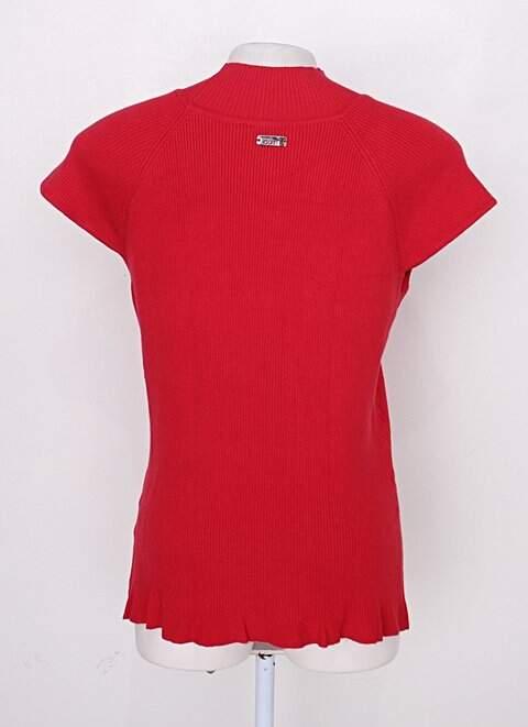 Blusa de tricot cori feminina vermelho claro_foto de costas