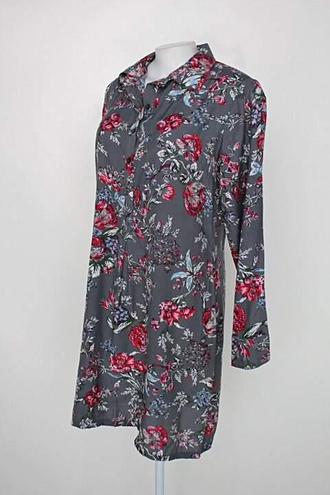 Vestido feminina cinza_foto de costas