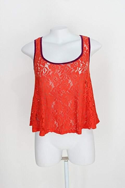 Blusa de renda lucca couture feminina vermelha_foto principal