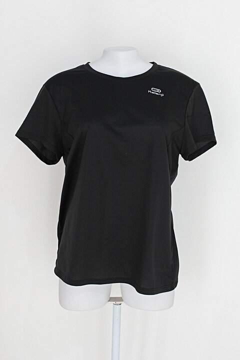 Camiseta feminina preta com Silk logotipo _foto principal