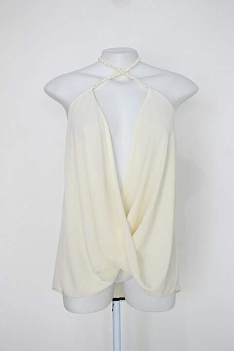 Blusa frente única carmim feminina creme_foto principal
