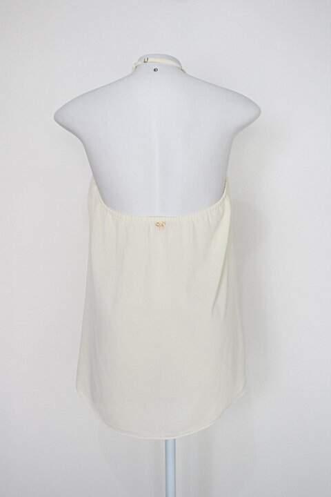 Blusa frente única carmim feminina creme_foto de costas