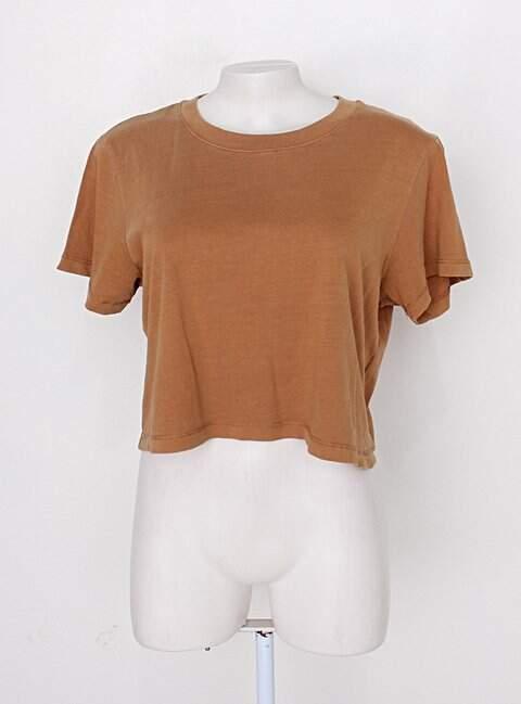 Blusa cropped cotton on feminina marrom_foto principal
