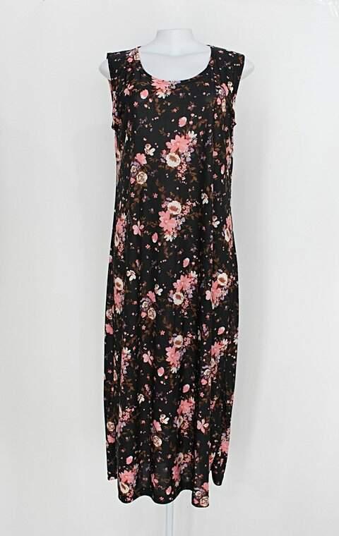 Vestido feminino preto estampa floral _foto principal
