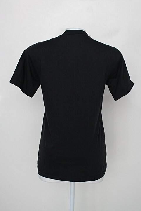 Camiseta atitude ecológica feminina preta com estampa_foto de costas