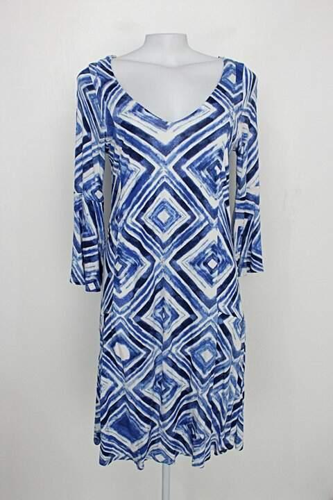 Vestido dzarm feminino azul e branco_foto principal