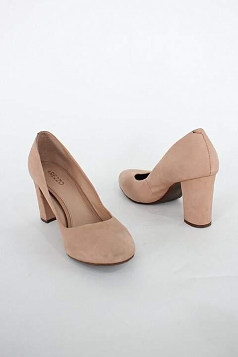 Sapato arezzo feminino bege_foto de costas