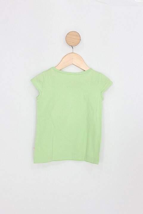 Blusa Infantil alphabeto girls verde_foto de costas