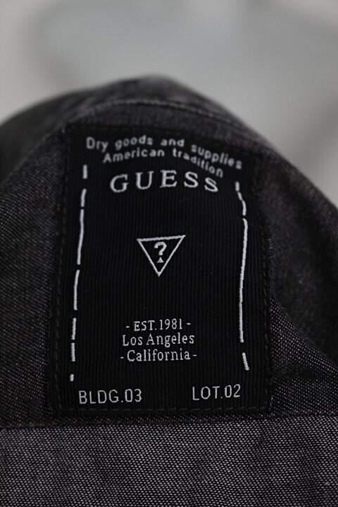 Camisa jeans guess feminina cinza_foto de detalhe