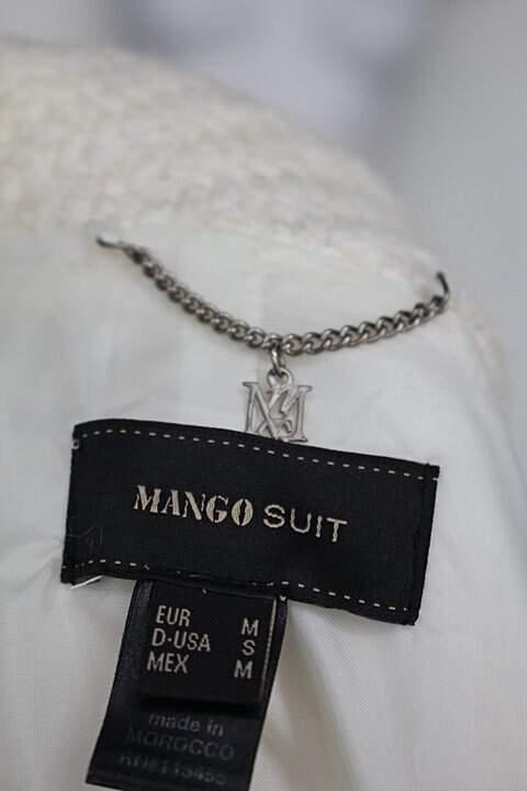 Sobretudo mango feminino off-white botões preto_foto de detalhe
