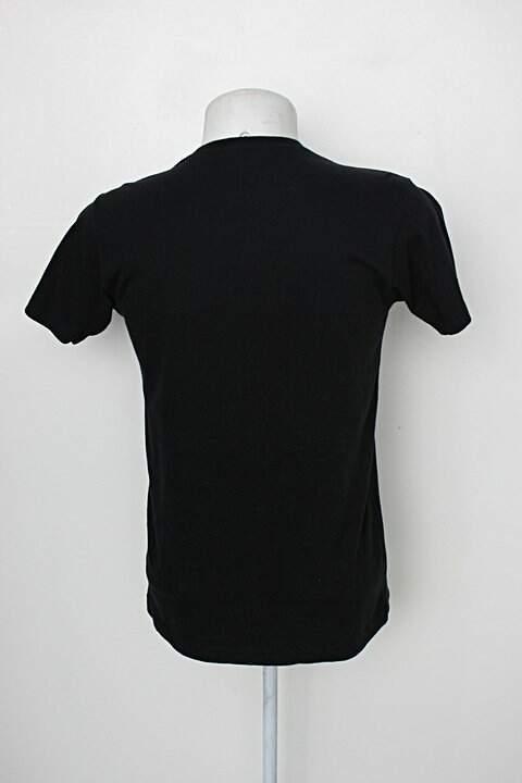 Camiseta masculina preta baw clothing_foto de costas