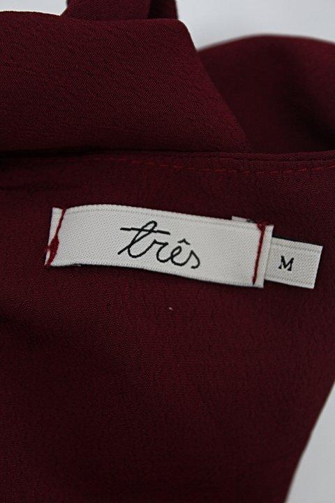 Blusa três feminina vinho_foto de detalhe
