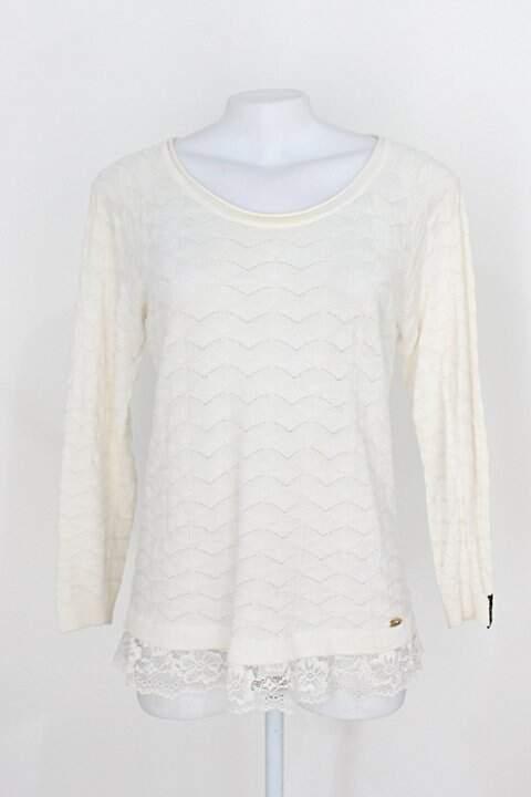 Blusa biamar feminina off-white com renda_foto principal