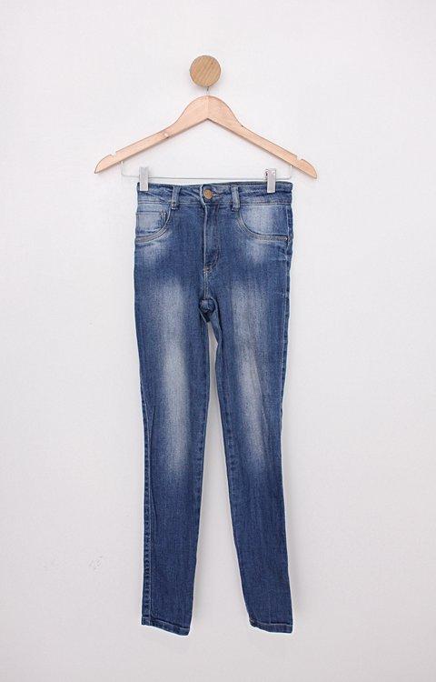 Calça Jeans skinny biotipo feminina azul com acabamento gold wash_foto principal