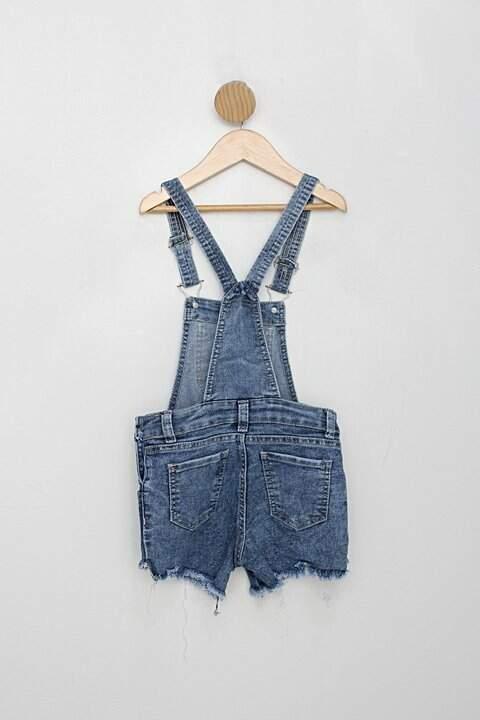 Jardineira jeans Infantil azul_foto de costas