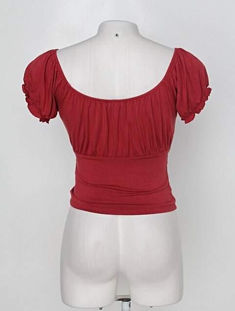 Blusa forever 21 feminina vermelha_foto de costas