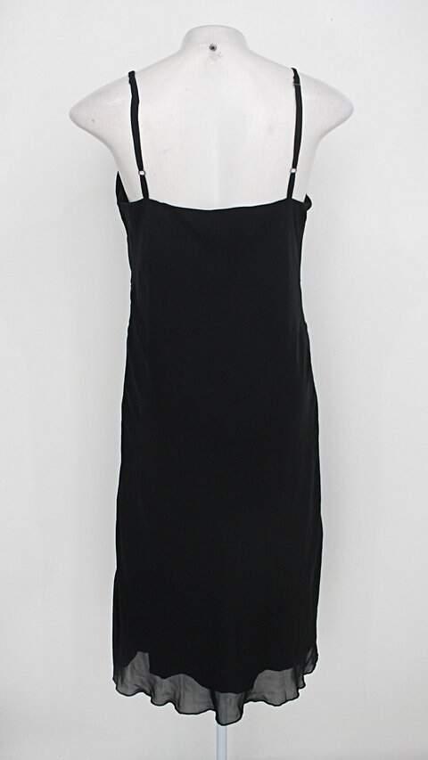 Vestido c&a feminino preto com Strass e forro_foto de costas