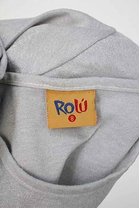 Blusa de Malha Infantil rolú prata com hotfix e manga longa_foto de detalhe