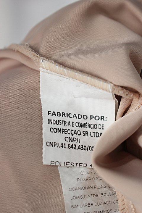 Blusa miss mano feminina nude com Transparência_foto de detalhe