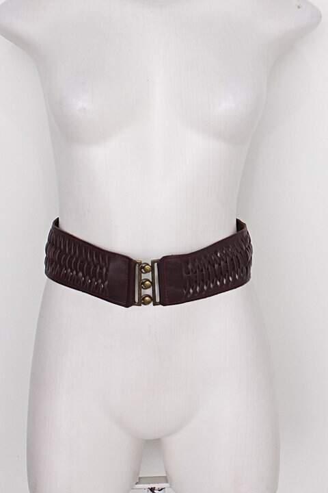 Cinto de Cintura feminino marrom c/ tresse_foto principal
