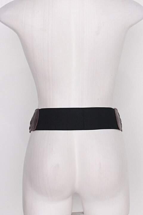 Cinto de Cintura feminino marrom c/ tresse_foto de costas