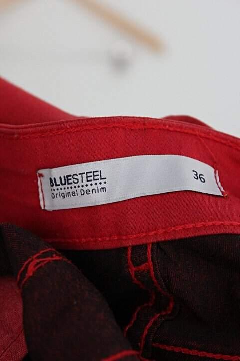 Calça de tecido renner feminina vermelha_foto de detalhe
