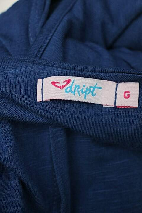 Vestido dript feminino azul_foto de detalhe