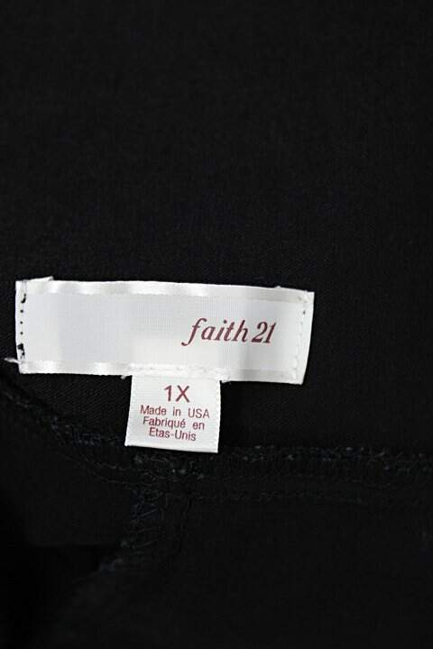 Saia faith 21 feminina preta cós com elástico_foto de detalhe