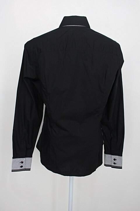 Camisa manga longa dudalina feminina preta_foto de costas