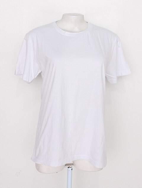 Camiseta básica har têxtil unissex branca_foto principal