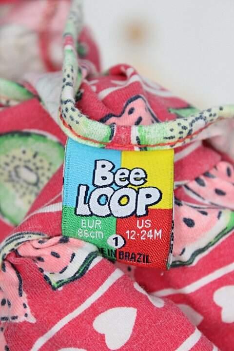 Vestido Infantil bee loop estampado_foto de detalhe