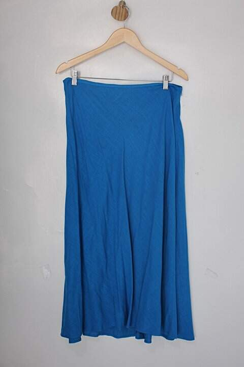 Saia longa Zara feminina azul claro _foto principal