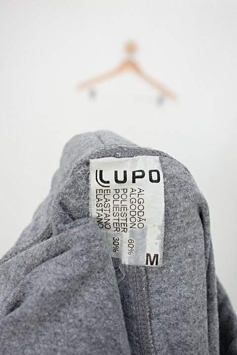 Calça Legging básica lupo feminina cinza _foto de detalhe