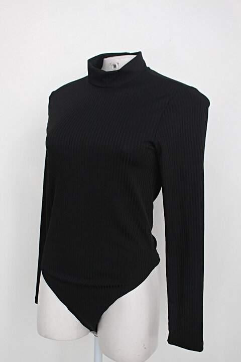 Body manga longa feminino preto gola alta_foto de costas