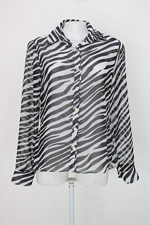 Camisa bela eva feminina animal print com Transparência_foto principal