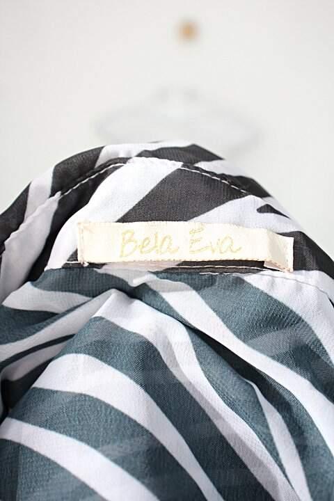Camisa bela eva feminina animal print com Transparência_foto de detalhe