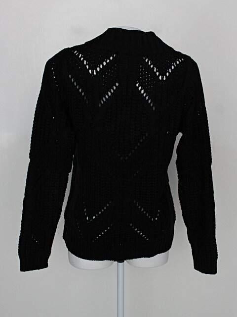 Suéter lugirene tricot feminino preto_foto de costas