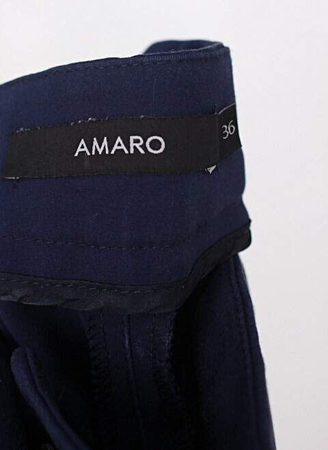 Calça de sarja skinny amaro feminina azul escuro_foto de detalhe