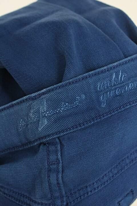 Calça de sarja 7 for all mankind feminina azul_foto de detalhe