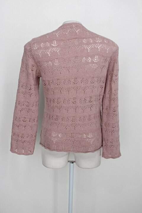 Blusa tear tricot feminina rosa_foto de costas