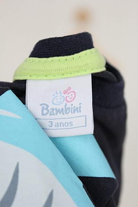 Camiseta Infantil bambini estampado tubarão_foto de detalhe