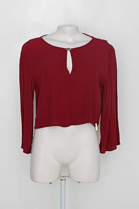 Blusa colcci feminina bordô_foto principal