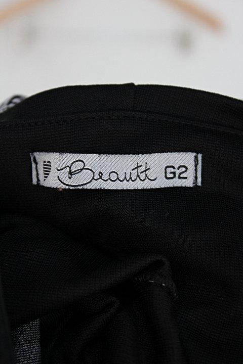 Calça de tecido beautt feminino preto estampado_foto de detalhe