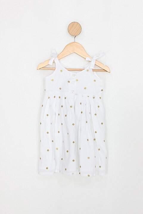Vestido Infantil cea branco_foto de costas