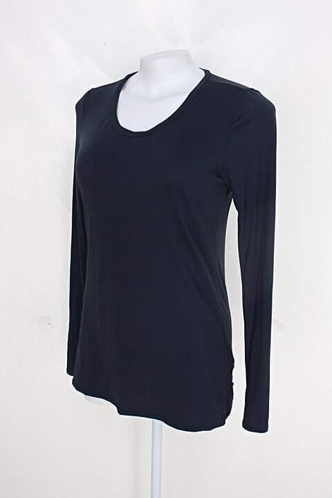 Blusa track &field feminina azul marinho com silk_foto de costas