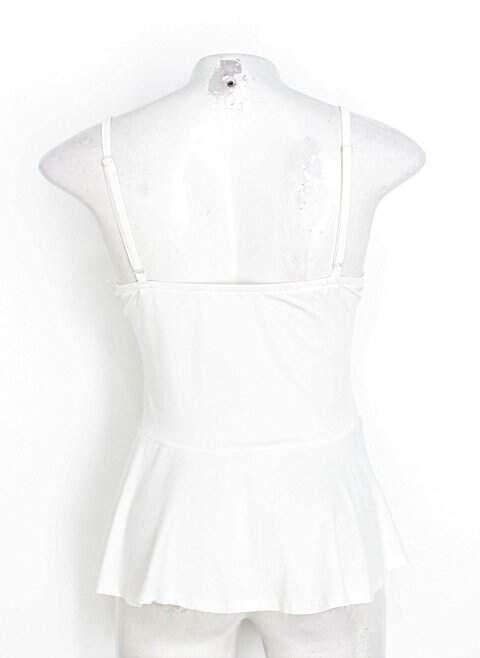 Regata ruby fashion feminina off-white com Renda e Bojo_foto de costas